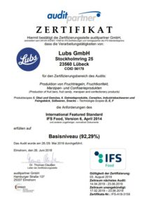 IFS zertifikat