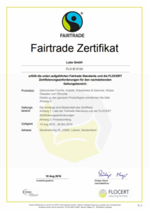 fairtrade zertifikat
